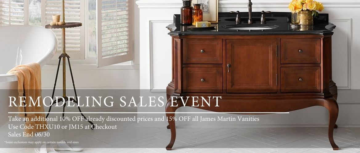 Bathroom Vanities, Disocunt Bathroom vanities, wall-hung bathroom vanities, antique vanities, rustic vanities, James Martin furniture