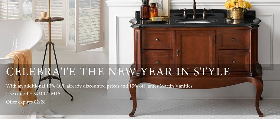 Take an additional 10% off on Already Discounted Prices & 15% off on all James Martin Vanities