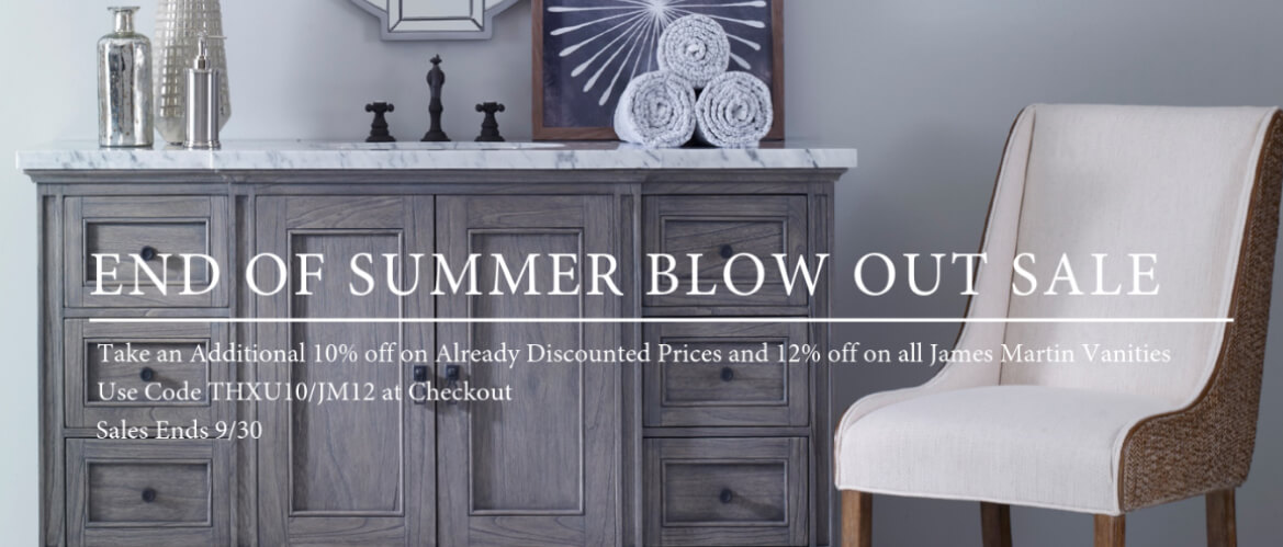Take an additional 10% off on Already Discounted Prices & 12% off on all James Martin Vanities
