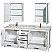 Sheffield 80 inch Double Sink Bathroom Vanity Set