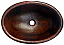 Copper Oval Plain Sink  Chocolate Finish, Finest Handmade