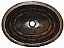 Copper Oval Tortoise Sink Chocolate Finish, Finest Handmade