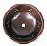 Copper Round Fleur de Lis 15 inch Sink Chocolate Finish