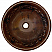 Copper Round Floral 15 inch Sink Chocolate Finish