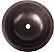 Copper Round Plain 15 inch Sink Chocolate Finish