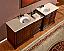 Silkroad Antique Double Sink Bath Vanity Cream Marfil Top