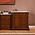 Silkroad 57 inch Antique Single Bathroom Vanity Marble Top