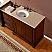 Silkroad 57 inch Antique Bathroom Vanity Marble Top