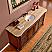 Silkroad 72 inch Antique Single Sink Bathroom Vanity