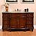 Silkroad 60 inch Single Sink Bathroom Vanity Vein-Cut Top