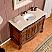 Silkroad 48 inch Antique Single Bathroom Vanity Cream Top