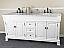 Bellaterra 205072-D-WH White Double Sink Bathroom Vanity