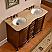 Silkroad Exclusive 52 inch Antique Double Sink Bathroom Vanity