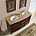 Silkroad 55 inch Double Bathroom Vanity Roman Vein-Cut Countertop