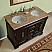 Silkroad 48 inch Double Bathroom Vanity Travertine Countertop