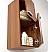 Fresca 28 inch Teak Bathroom Linen Side Cabinet