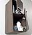 Fresca 28 inch Gray Oak Linen Side Cabinet