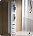 Torino White Tall Bathroom Linen Side Cabinet