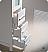 Torino White Linen Side Cabinet