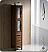 Torino Walnut Tall Bathroom Linen Side Cabinet