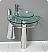 Attrazione 28 inch Glass Bathroom Vanity