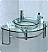 "Fresca Ordinato 24"" Corner Mount Modern Glass Bathroom Vanity in Faucet Option"