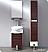 """Adour 16"""" Dark Walnut Modern Bathroom Vanity with Mirror"""