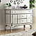 Adelina 44 inch Mirrored Bathroom Vanity Carrara Marble Top