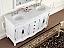 Adelina 63 inch White Antique Double Bathroom Vanity top