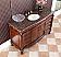 """Adelina 56"""" Antique Bathroom Vanity Sierra Brown Granite Top"""