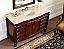 Adelina 56 inch Antique Bathroom Vanity Cream Marble Top