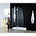 Aqua Lux Hinged Shower Door With Self-Closing Solid Brass Hinges