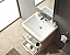 Milano 25 inch  Bathroom Vanity White Oak Finish