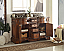 Adelina 60 inch Double Bathroom Vanity Chestnut Finish
