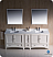 "Oxford 84"" White Traditional Double Sink Bathroom Vanity"