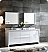 "Allier 72"" Modern Double Sink Bathroom Vanity Glossy White Finish"
