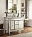 Adelina 40 inch Mirrored Bathroom Vanity White Marble Top