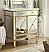 Adelina 32 inch Mirrored Gold Bath Vanity & Mirror
