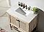 Abel 36 inch Rustic White Wash Bath Vanity Marble Top