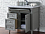 Contemporary 36 inch Bathroom Vanity Gray Finish