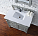 Contemporary 36 inch  Bathroom Vanity Gray Finish No Top