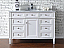 Contemporary 48 inch Single Bathroom Vanity White Finish No Top
