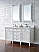 Contemporary 60 inch Double Bathroom Vanity Cottage White Finish