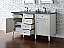 Contemporary 60 inch Double Bathroom Vanity Cottage White Finish No Top