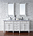 Contemporary 72 inch Double Sink Bathroom Vanity Cottage White Finish No Top