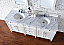 Contemporary 72 inch Double Bathroom Vanity Cottage White Finish No Top