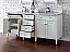 Contemporary 72 inch Double Sink Bathroom Vanity Cottage White Finish