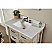 Accos 36 inch Rustic Bathroom Vanity Quartz Marble Top