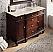Adelina 48 inch Bathroom Vanity Sink Cream Marble Top