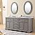 Carenton 72 inch Traditional Double Sink Bathroom Vanity Gray Finish